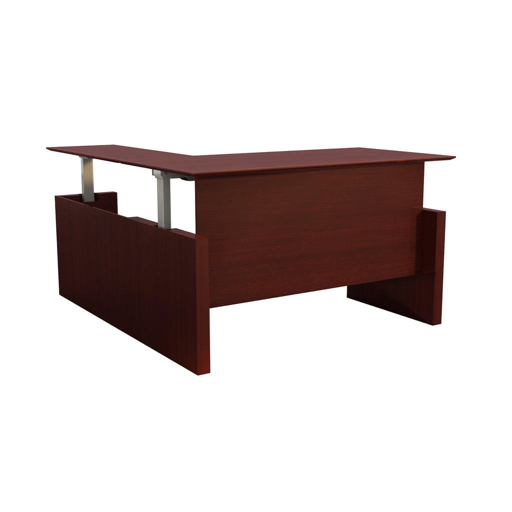 "Safco Products Medina 63"" Straight Front Desk with Return MNT52HLMH(Image 2)"