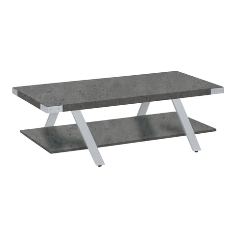 Safco Products Mirella Coffee Table MRCFTSGY(Image 1)
