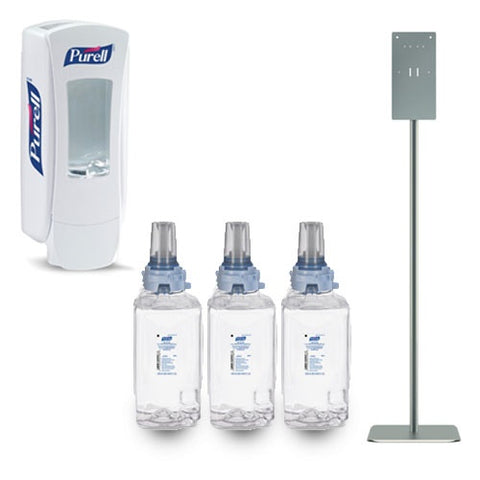 Purell Foam Hand Sanitizer Refill Carton with Push Dispenser and HON Dispensing Station