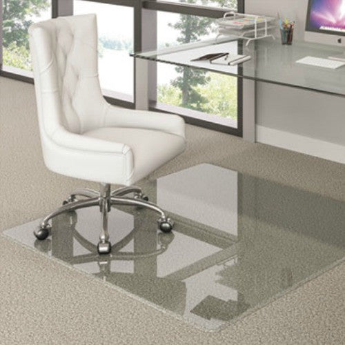 "Premium Glass Chairmat by Deflecto 44"" x 50"" ; UPC: 079916019192"