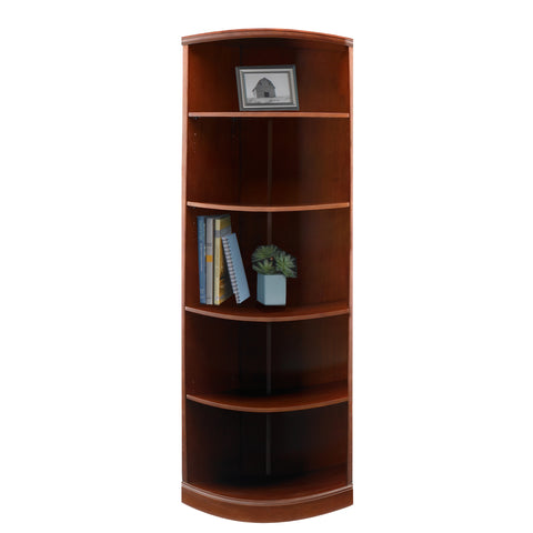 Safco Products Sorrento 5-Shelf, Quarter Round Bookcase SBQ5SCR(Image 1)