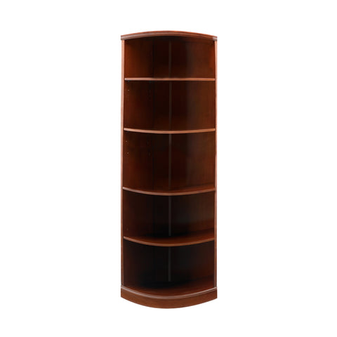 Safco Products Sorrento 5-Shelf, Quarter Round Bookcase SBQ5SCR(Image 2)