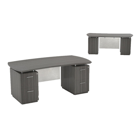"Safco Products Sterling 72"" Desk, 2 F/F Pedestals STED72FTDW Image 1"