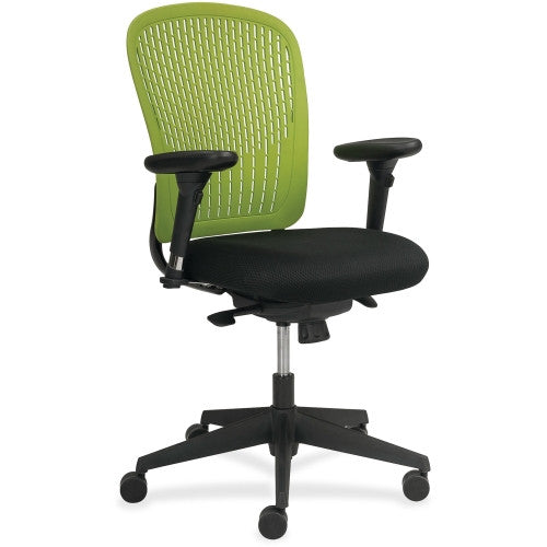 Safco Adjustable Arms Black Fabric Task Chair SAF7063GN, Green (UPC:073555706376)