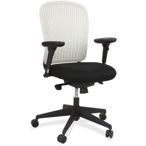 Safco Adjustable Arms Black Fabric Task Chair SAF7063WH, White(UPC:073555706390)