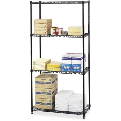 Safco Commercial Wire Shelving SAF5276BL, Black (UPC:073555527629)