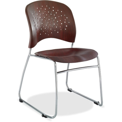 Safco Reve Plastic Wood Back Guest Chair SAF6810MH, Mahogany (UPC:073555681062)