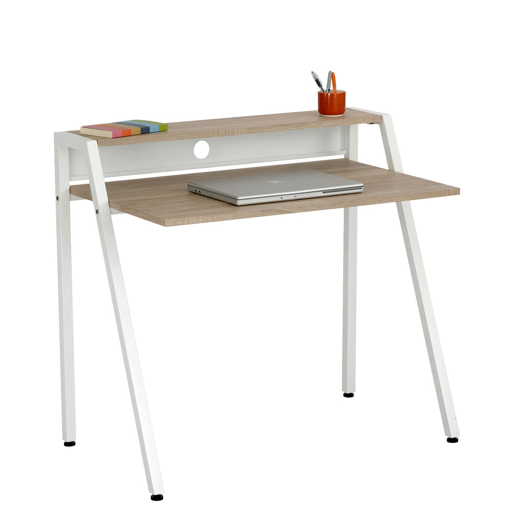 Safco Studio Writing Desk ; Laminate/White Frame ; (073555195194)