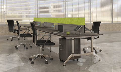 "Safco Products EVEN Workstation, 4-Person, 24 x 72"" LD9D(Image 3)"