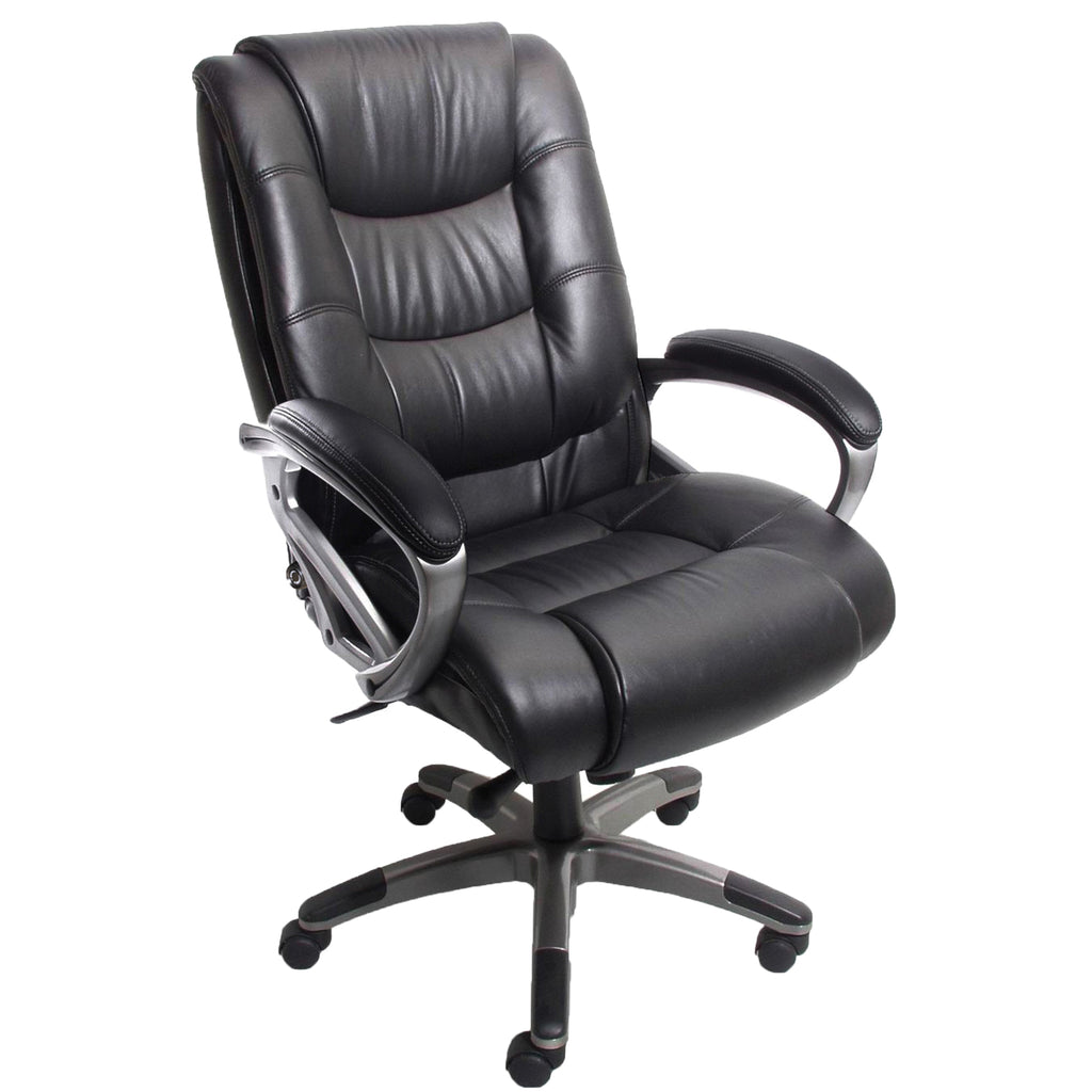 Safco Products Ultimo 500 Series High-Back Leather Chair UL550HEZBLK(Image 2)