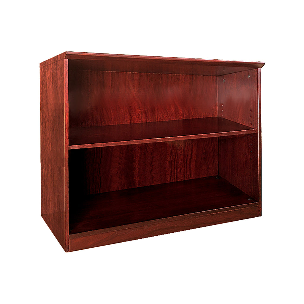 Safco Products Veneer 2-Shelf Bookcase VB2CRY(Image 1)