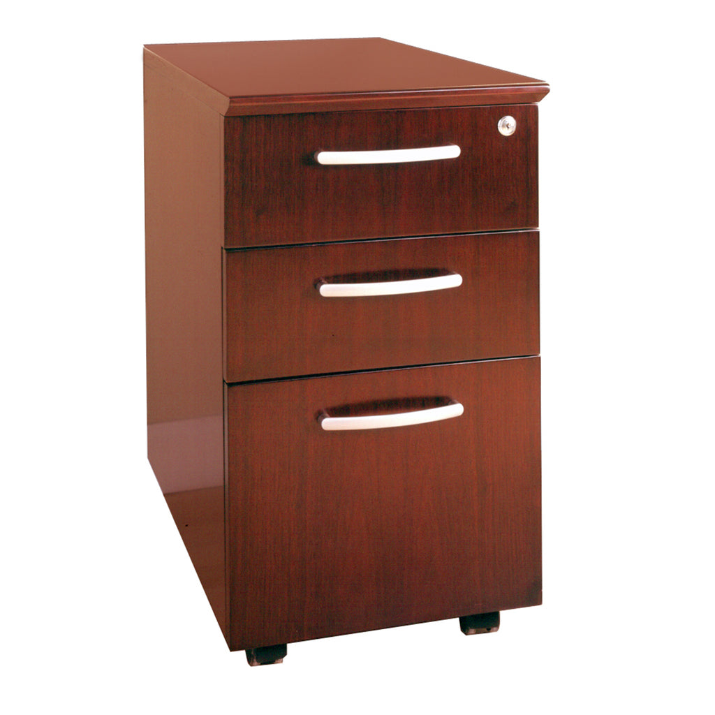 Safco Products Veneer Mobile Pedestal, Box/Box/File VBBFCRY(Image 1)