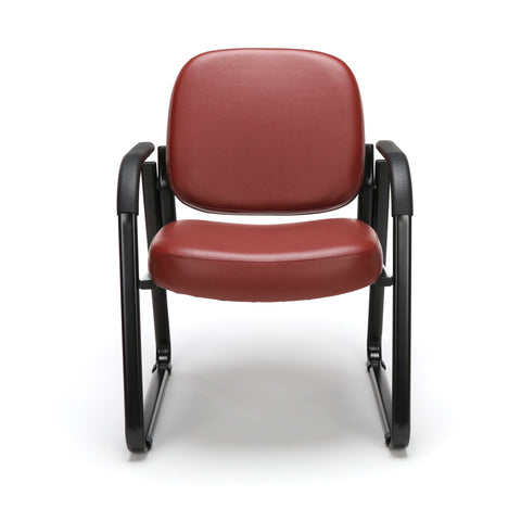 OFM Model 403-VAM Guest and Reception Chair with Arms, Anti-Microbial/Anti-Bacterial Vinyl, Wine ; UPC: 811588014187 ; Image 2