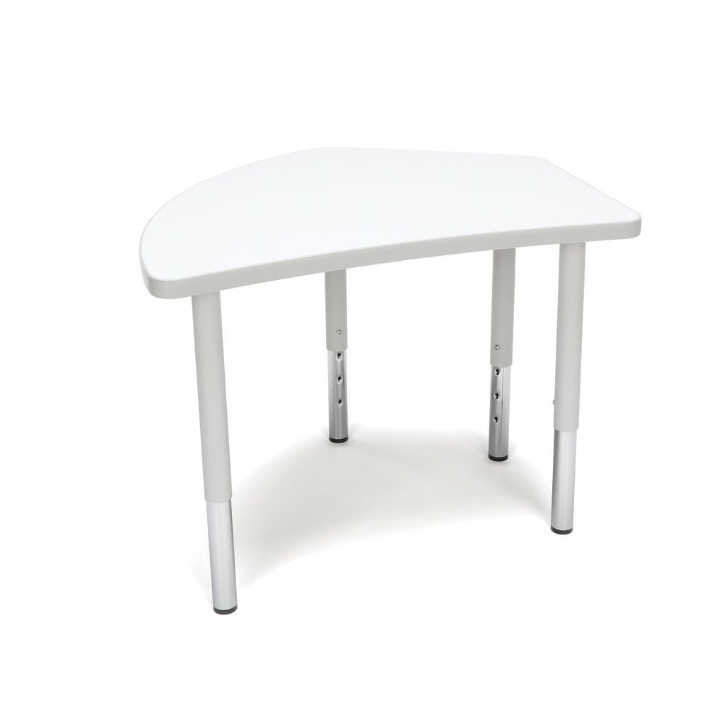OFM Adapt Series Crescent Student Table - 18-26? Height Adjustable Desk, White (CREST-SL) ; UPC: 845123096291 ; Image 1
