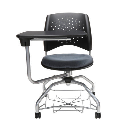 OFM Stars Foresee Series Tablet Chair with Removable Fabric Seat Cushion - Student Desk Chair, Slate Gray (329T) ; UPC: 845123094242 ; Image 2