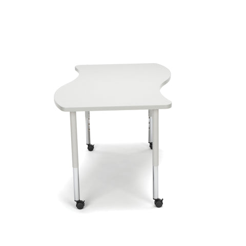 OFM Adapt Series Large Wave Standard Table - 25-33? Height Adjustable Desk with Casters, Gray Nebula (WAVE-L-LLC) ; UPC: 845123096154 ; Image 4