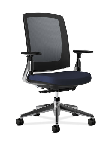 HON Lota Mesh Back Office Chair, in Navy (H2283) ; UPC: 881728407964 ; Image 1