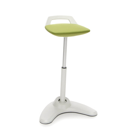 OFM VIVO Adjustable Height Bar Stool - Contemporary Perch Stool Chair, Green with Cream Trim (2800-CRM-GRN) ; UPC: 845123090947 ; Image 1