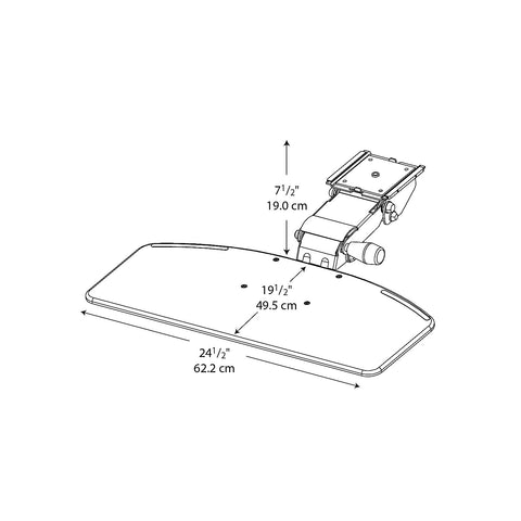 Bush Accessories Articulating Keyboard Tray, AC9980103 ; UPC: 042976998011 ; Image 2