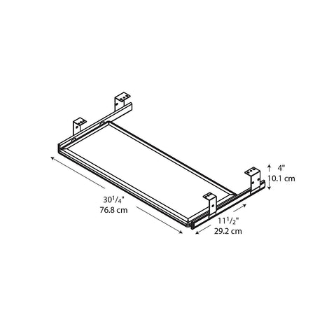 Bush Accessories Universal Keyboard Shelf, AC9980803 ; UPC: 042976998080 ; Image 2