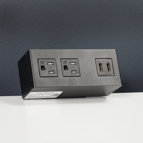 Bush Accessories Power Hub with USB, AC99834BL ; UPC: 042976075866 ; Image 2