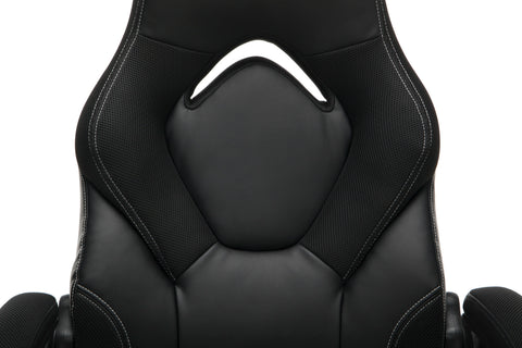 OFM Essentials Collection Racing Style Bonded Leather Gaming Chair, in Black (ESS-3085-BLK) ; UPC: 192767002523 ; Image 7