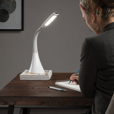 OFM 4010-WHT LED Desk Lamp with Integrated On/Off Switch and USB Charging Port, White ; UPC: 192767000772 ; Image 11