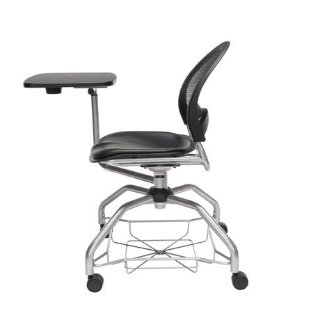 OFM Moon Foresee Series Tablet Chair with Removable Vinyl Seat Cushion - Student Desk Chair, Black (339T-VAM) ; UPC: 845123094785 ; Image 5