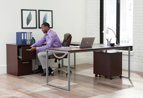 OFM Fulcrum Series 72x30 Desk, Minimalistic Modern Office Desk, Mahogany (CL-D7230-MHG) ; UPC: 845123097137 ; Image 9