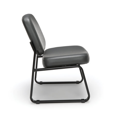 OFM Model 405-VAM Armless Guest and Reception Chair, Anti-Microbial/Anti-Bacterial Vinyl, Charcoal ; UPC: 811588014347 ; Image 4