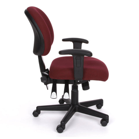 OFM Model 241-AA 24-Hour Ergonomic Multi-Adjustable Upholstered Task Chair with Arms, Burgundy ; UPC: 845123012352 ; Image 4