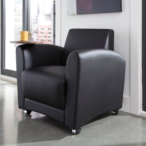 OFM InterPlay Series Single Seat Chair with Bronze Tablet, in Black (821-PU606-BRONZ) ; UPC: 845123031018 ; Image 12