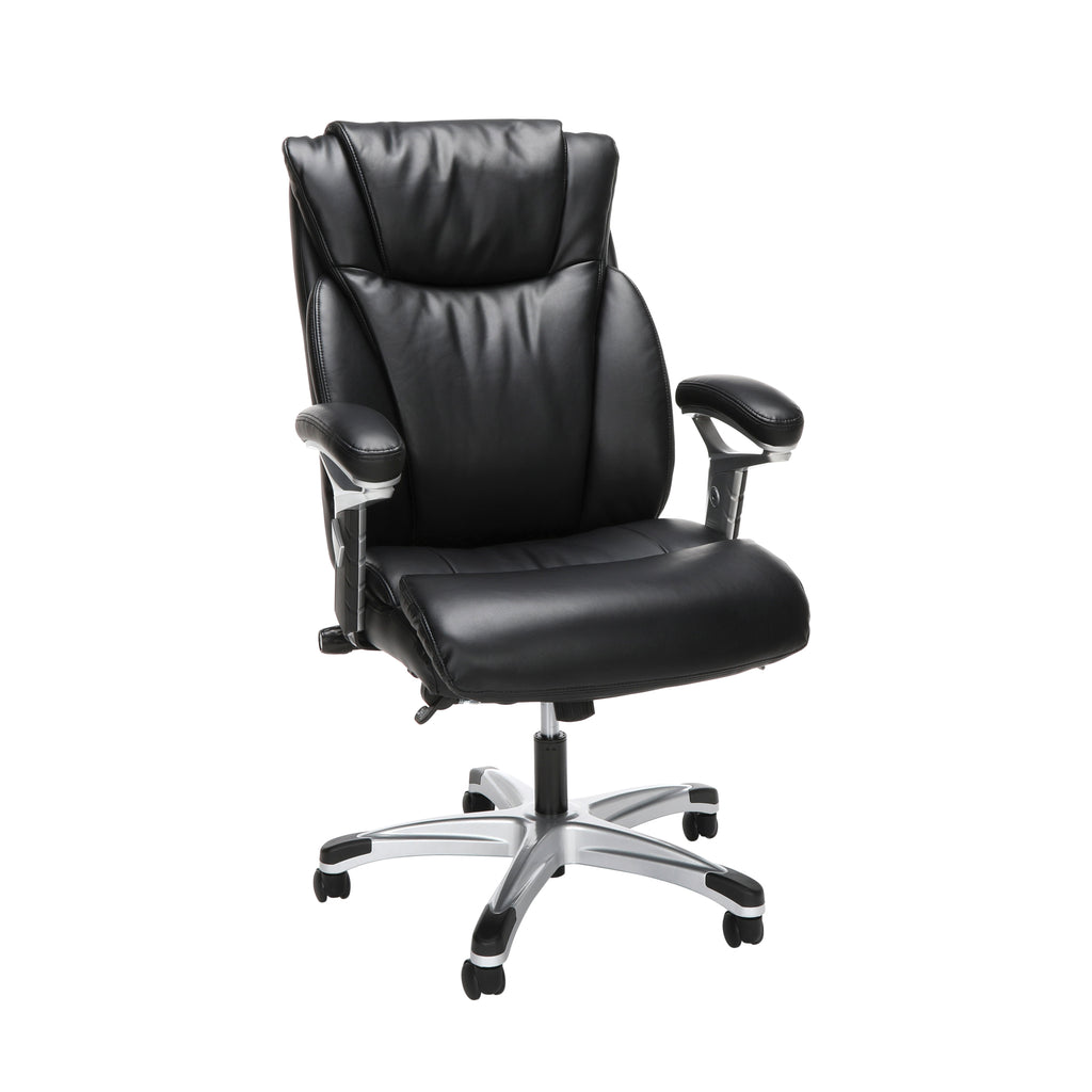 OFM Essentials Series Ergonomic Executive Bonded Leather Office Chair, in Black (ESS-6046-BLK) ; UPC: 192767000291 ; Image 1