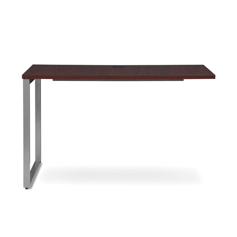 OFM Fulcrum Series 48x24 Return Desk, Office Desk Return, Mahogany (CL-R4824-MHG) ; UPC: 845123097373 ; Image 2