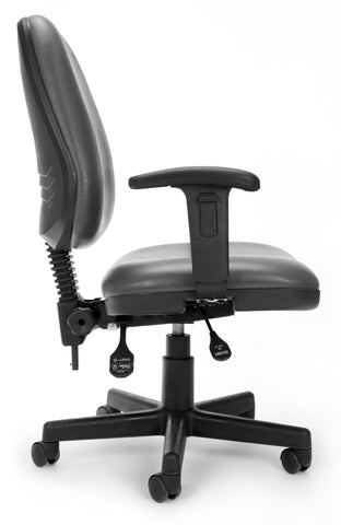 OFM 119-VAM-AA-604 Straton Series Anti-Microbial/Anti-Bacterial Vinyl Task Chair with Arms ; UPC: 845123011423 ; Image 2