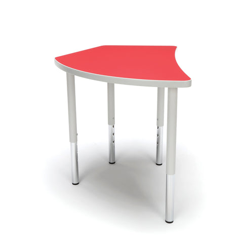 OFM Adapt Series Crescent Standard Table - 23-31? Height Adjustable Desk, Red (CREST-LL) ; UPC: 845123096529 ; Image 4