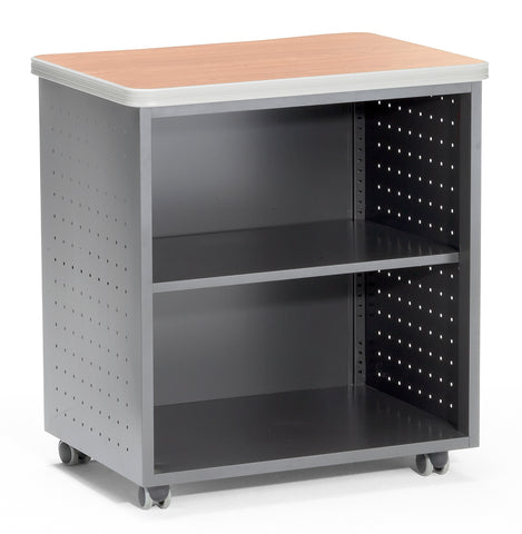 OFM Mesa Series Model 66745 Wheeled Mobile Utility Station with Shelf and Laminate Top, Maple ; UPC: 811588011841 ; Image 1