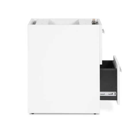 OFM Fulcrum Series Locking Pedestal, 2-Drawer Filing Cabinet, White (CL-FF-WHT) ; UPC: 845123097472 ; Image 8