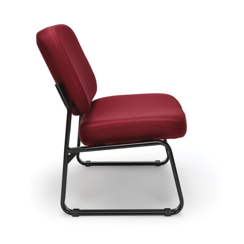 OFM Big and Tall Guest/Reception Chair, Wine ; UPC: 845123028643 ; Image 4