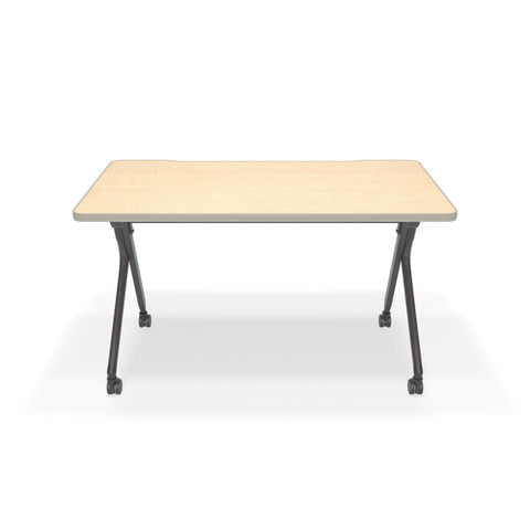 "OFM Mesa Series Model 66122 Flip Nesting Training Table and Desk, 23.5"" x 47.25"", Maple ; UPC: 845123080320 ; Image 2"