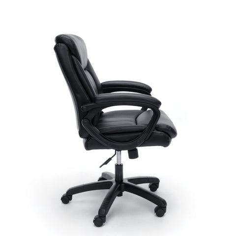 Essentials by OFM ESS-6020 Executive Office Chair, Black with Black Frame ; UPC: 845123092828 ; Image 4