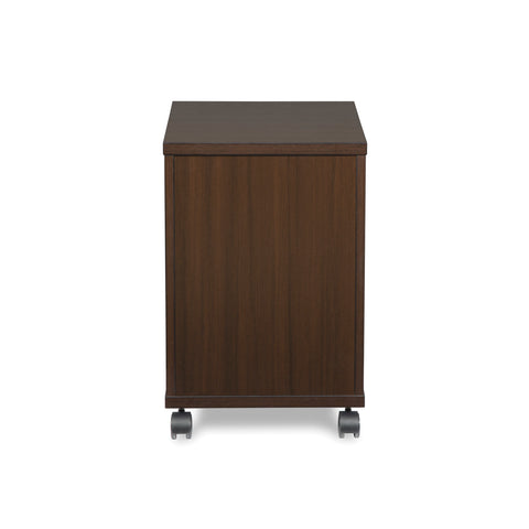 OFM Fulcrum Series Locking Pedestal, Mobile 2-Drawer Filing Cabinet, Espresso (CL-MBF-ESP) ; UPC: 845123097526 ; Image 3