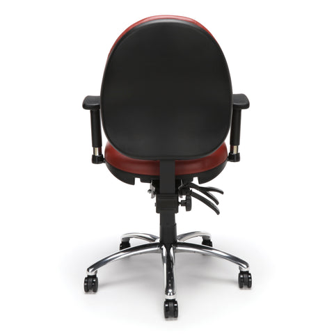 OFM Model 247-VAM 24 Hour Big and Tall Ergonomic Computer Swivel Task Chair with Arms, Anti-Microbial/Anti-Bacterial Vinyl, Wine ; UPC: 811588010295 ; Image 3