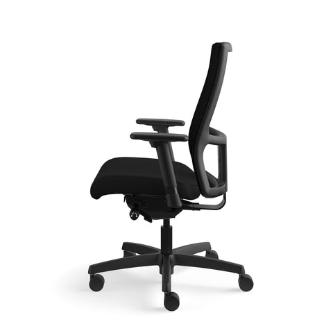 HON Ignition Series Mid-Back Work Chair - Mesh Computer Chair for Office Desk, Black (HIWM2) ; UPC: 745123568005 ; Image 5