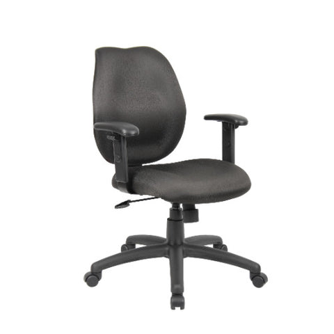 Boss Black Task Chair W/ Adjustable Arms ; UPC:751118101416
