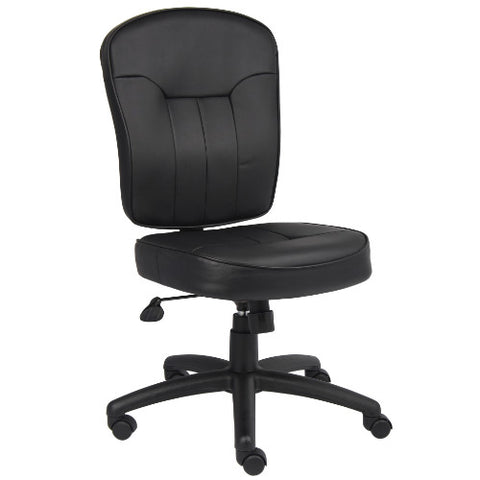 Boss Black Leather Task Chair  ; UPC:751118156010