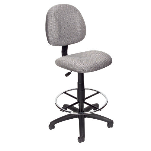 Boss Drafting Stool (B315-Gy) W/Footring ; UPC:751118161526