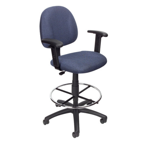 Boss Drafting Stool (B315-Be) W/Footring And Adjustable Arms ; UPC:751118161632