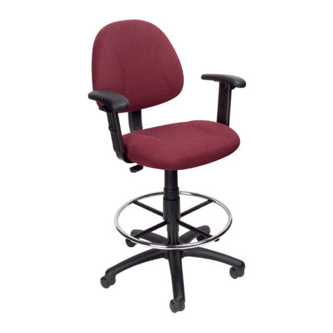 Boss Drafting Stool (B315-By) W/Footring And Adjustable Arms ; UPC:751118161649