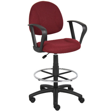 Boss Drafting Stool (B315-By) W/Footring And Loop Arms ; UPC:751118161748